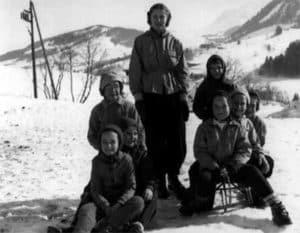 1950 : première classe de neige