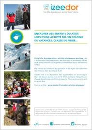Ski encadrer enfants ados