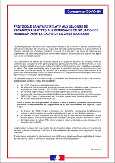 Protocole sanitaire séjours personnes handicapées