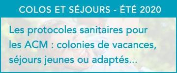 Protocole sanitaire ACM Colonies de vacances