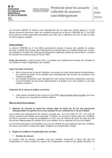 Protocole sanitaire ACM sans hébergement